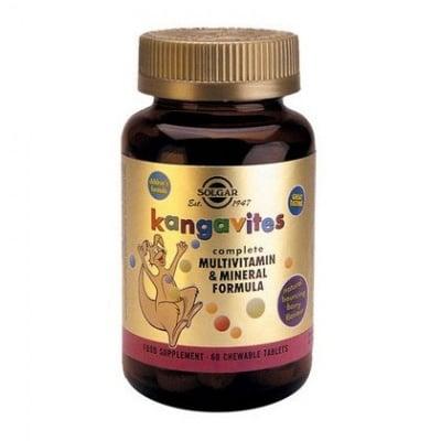 Solgar Мултивитамини за деца Горски плодове, Брой таблетки: 60