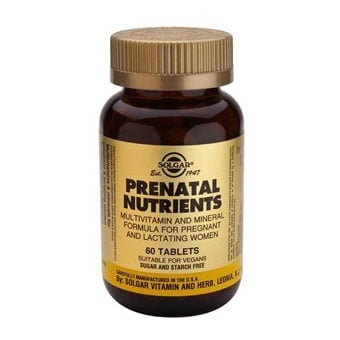 Solgar Мултивитамини за бременни, Брой таблетки: 60
