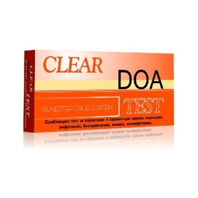 Тест за наркотици Clear DOA Combo 6 ленти