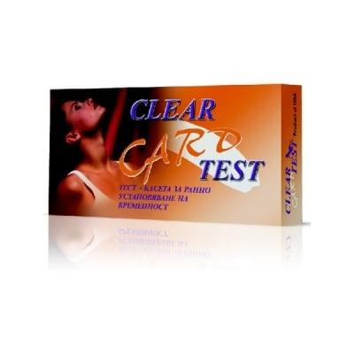 Тест за бременност Clear Card - касета