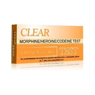 Тест за наркотици Clear Морфин, хероин - касета