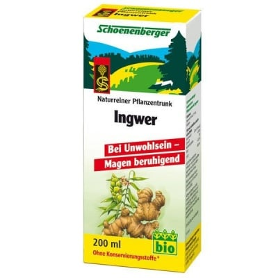 Schoenenberger Био сок от Джинджифил, Сок: 200 ml