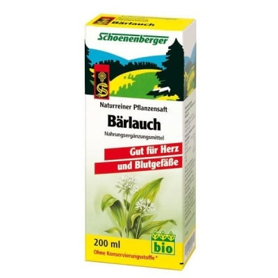 Schoenenberger Био сок от Див чесън, Сок: 200 ml