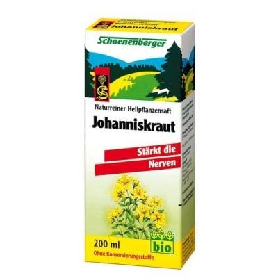 Schoenenberger Био сок от Жълт кантарион, Сок: 200 ml