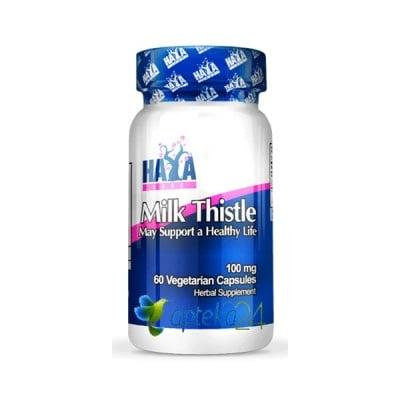 Haya Labs Milk Thistle 100 mg. 60 capsules / Хая Лабс Магарешки бодил 100 мг. 60 капсули