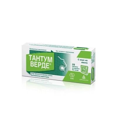 Tantum Verde / Тантум Верде Мента табл., Брой таблетки: 20