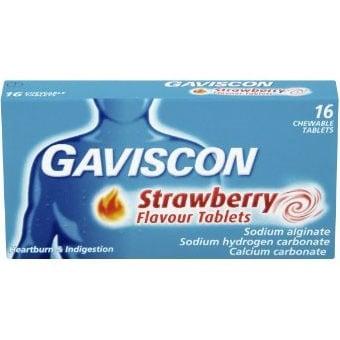 Gaviscon / Гавискон ягода табл., Брой таблетки: 16