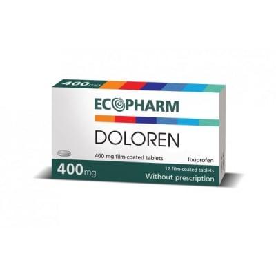 Doloren / Долорен 400 мг , Брой таблетки: 12