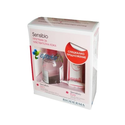 Bioderma Sensibio Set eye contour gel + solution micellaire/Биодерма Сенсибио комплект околочен крем + мицеларна вода