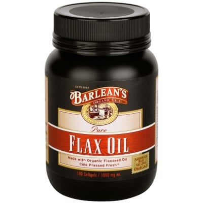 Barlean's Flax oil / Ленено масло Барлийнс, Брой капсули: 100