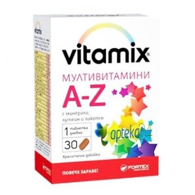 Vitamix Multi - vitamis A-Z 30 tablets / Витамикс мултивитамини А-Я 30 таблетки, Брой таблетки: 30