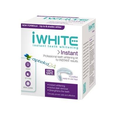 Iwhite Instant Kit teeth whitening 10 splits / Айуайт Комплект за избелване на зъби 10 шини