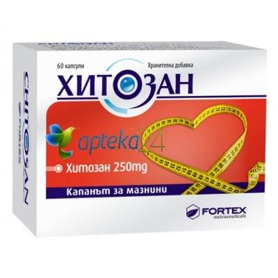Chitosan 60 capsules 250 mg. / Хитозан 60 капсули 250 мг.