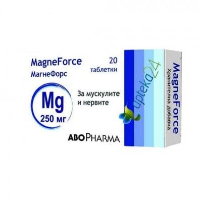 Abopharma Magneforce Mg 20 tablets 250 mg. / Абофарма Магнефорс Mg 20 таблетки 250 мг.