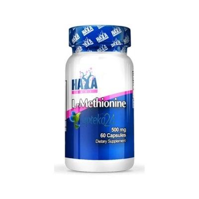 Haya Labs L-Methionine 500 mg. 60 capsules / Хая Лабс L-Метионин 500 мг. 60 капсули