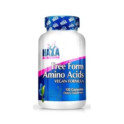 Haya Labs Free Form Amino acid 100 capsules / Хая Лабс Амино киселини в Свободна форма 100 капсули, Брой капсули: 100