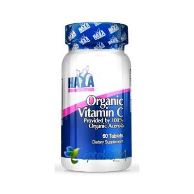 Haya Labs Organic Vitamin C from Acerola 60 tablets / Хая Лабс Органик Витамин Ц от Ацерола 60 таблетки
