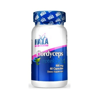 Haya Labs Cordyceps 500 mg. 60 tablets / Хая Лабс Кордицепс 500 мг. 60 таблетки, Брой таблетки: 60