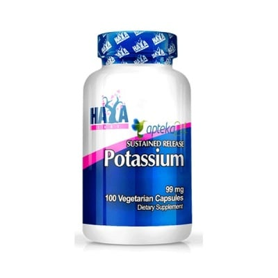 Haya Labs Potassium 99 mg. 100 capsules / Хая Лабс Потасиум 99 мг. 100 капсули, Брой капсули: 100