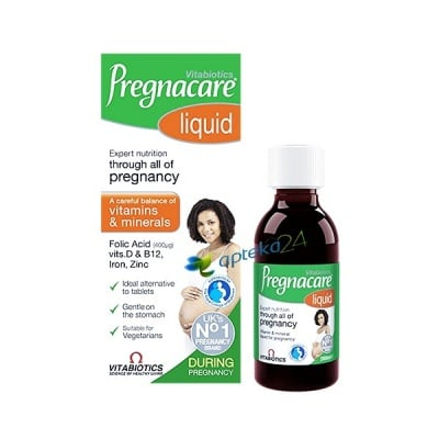 Pregnacare liquid 200 ml. Vitabiotics / Прегнакеър сироп 200 мл. Витабиотикс , Сироп: 200 ml