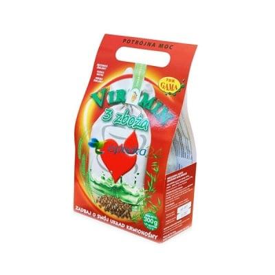 Virumin Three Grain Foods 120 filter bags / Вирумин Три Зърнени Храни 120 филтърни торбички, Филтърни торбички: 120 броя