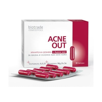 Acne Out 30 capsules / Акне Аут 30 капсули, Брой капсули: 30