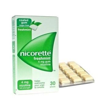 Nicorette Mint (Никорет минт - никотинова дъвка), Дозировка: 4 mg