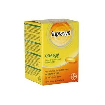 Supradyn energy tabl.  (Супрадин енерджи таблетки), Брой таблетки: 30