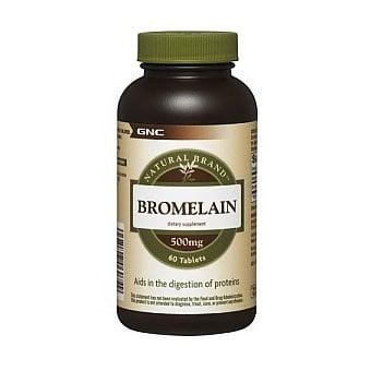 GNC Bromelain / Бромелаин, Брой таблетки: 60