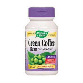 Green Coffee Bean 500 mg 60 capsules Nature's Way / Зелено кафе на зърна 500 мг. 60 капсули Nature's Way
