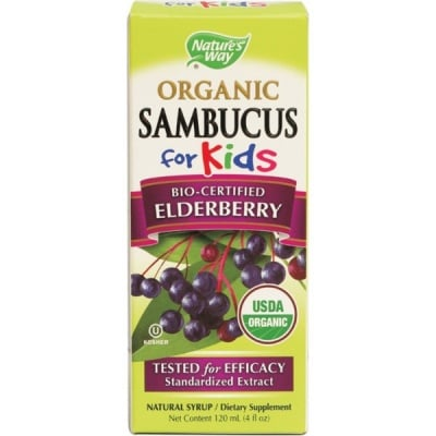 Sambucus  for kids / Самбукус за деца Органик сироп, Сироп: 120 ml