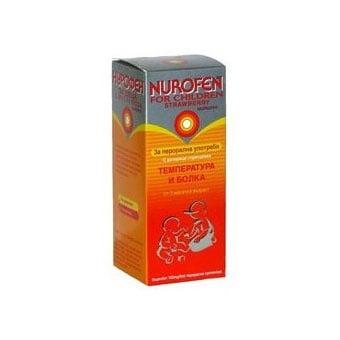 Nurofen for children / Нурофен сироп за деца 100 mg/5ml, Вкус: портокал