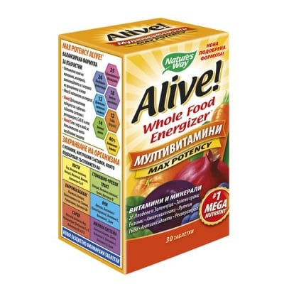 Alive 1 g 30 tablets Nature's Way / Алайв 1 гр. 30 таблетки Nature's Way