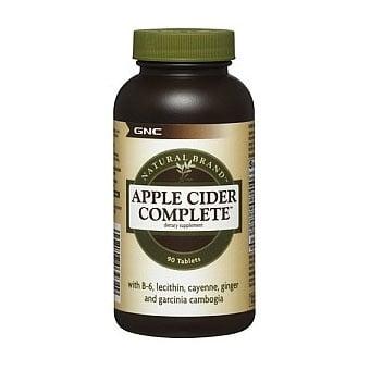 GNC Apple cider complete / Ябълков оцет, Брой таблетки: 90