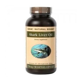 GNC Shark liver oil / Масло от черен дроб на акула, Брой капсули: 90