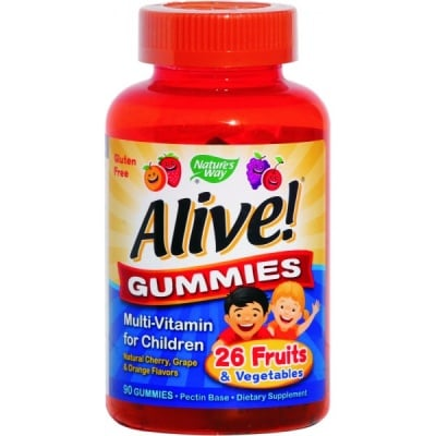 Alive Multi-vitamin 90 gummies Nature's Way / Алайв Витамини за деца 90 желирани таблетки Nature's Way