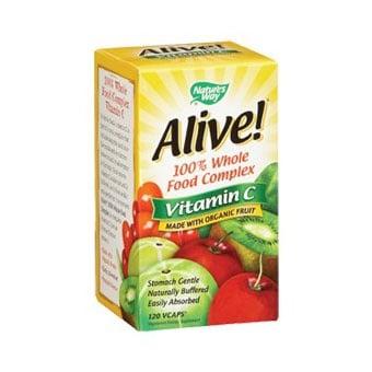 Alive Vitamin C organic 500 mg 120 g Nature's Way / Алайв Витамин Ц 500 мг. 120 гр. Nature's Way