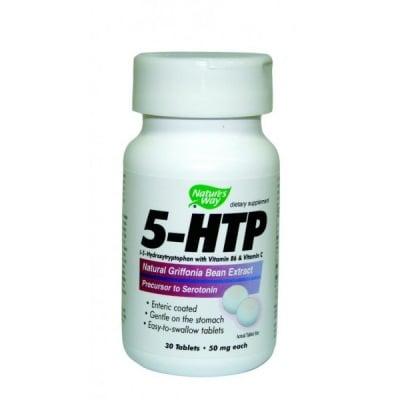 5 - HTP 50 mg 30 tablets Nature's Way / 5 -Хидрокситриптофан 50 мг. 30 таблетки Nature's Way