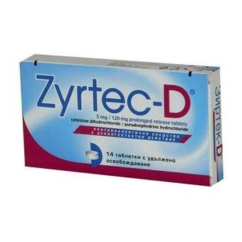 Zyrtek - D / Зиртек - D табл., Брой капсули: 14