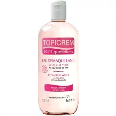 Topicrem Gentle Cleansing Water / Почистващ разтвор за чувствителна кожа, Течност: 200 ml