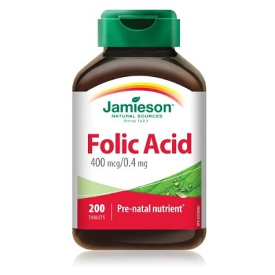 Jamieson Folic acid / Фолиева киселина, Брой таблетки: 200