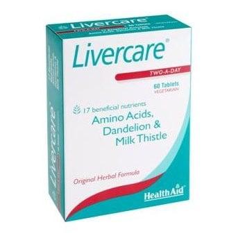 Livercare 60 tablets Health Aid / Ливъркеър 60 таблетки Хелт Ейд