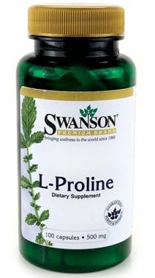 Swanson L-proline 500 mg 100 capsules / Суонсън Л-пролин 500 мг. 100 капсули