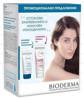Bioderma Set Node DS+ Anti-dandruff shampoo 125 ml. + Sensibio DS+ gel 200 ml. / Биодерма комплект Ноде DS+ интензивен шампоан срещу пърхот 125 мл. + Сенсибио DS+ гел 200 мл.