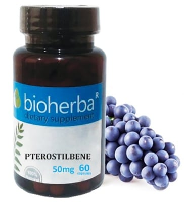 Bioherba Pterostilbene 50 mcg 60 capsules / Биохерба Птеростилбен 50 мг. 60 капсули
