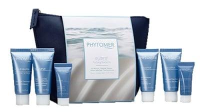 Phytomer purifying beauty set / Фитомер почистващ комплект за път с чантичка