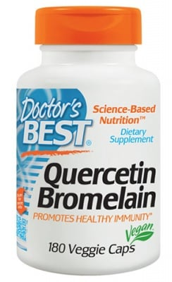 Doctor's Best Quercetin bromelain 180 capsules / Доктор'с Бест Кварцетин бромелаин 180 капсули