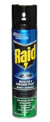 Raid against flying insects spray eucalyptus 400 ml. / Райд аерозол с евкалипт срещу летящи насекоми 400 мл.