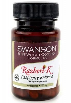 Swanson raspberry ketones 100 mg 60 capsules / Суонсън Малинови кетони 100 мг. 60 капсули