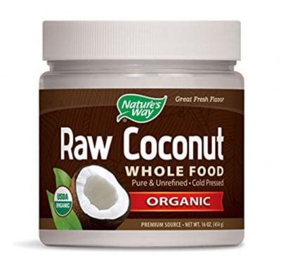 Raw Coconut Whole Food 454 g Nature's Way / Кокосов Орех Органик 454 гр Nature's Way